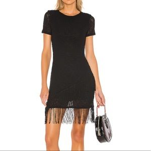 HOUSE OF HARLOW Revolve Fatima Mini Dress In Noir
